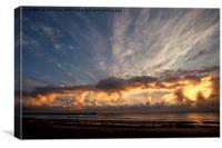 North Sea Sunrise, Canvas Print