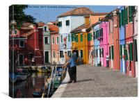 Colourful Burano, Canvas Print