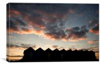 Sunrise over the Beach Huts, Canvas Print