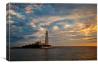Daybreak at St Mary's Island 3, Canvas Print