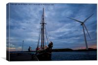 Powered by Wind, Canvas Print