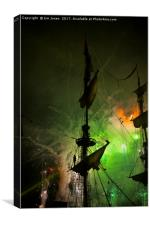 Fireworks and Tall Ships 4, Canvas Print