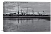 Reflections in black and white, Canvas Print