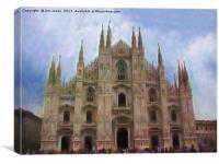 Artistic Milan Duomo, Canvas Print