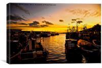 North Shields Fish Quay at Dusk, Canvas Print