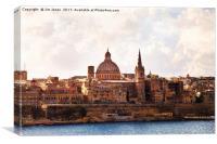 Painterly Valletta, Canvas Print