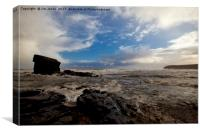 Stormy Collywell Bay, Canvas Print