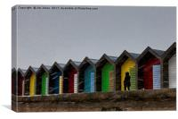 Beach Huts for hire - Heating optional, Canvas Print