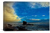 Artistic Collywell Bay, Canvas Print