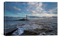 Winter dawn at St Mary's Island (2), Canvas Print