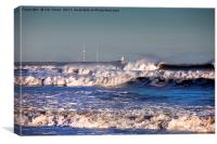 Wave after wave, Canvas Print