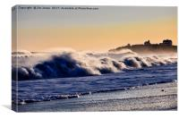 Seaton Sluice surf and spray, Canvas Print