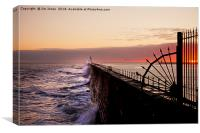 Mouth of the Tyne sunrise, Canvas Print