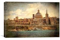 Artistic Valletta, Canvas Print