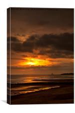 December sunrise, Canvas Print