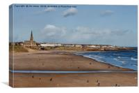 Tynemouth Long Sands (2), Canvas Print