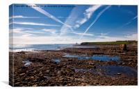 Collywell Bay at low tide, Canvas Print