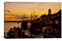 Dusk over the Fish Quay, Canvas Print