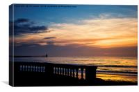 Sunrise from the promenade at Blyth, Canvas Print
