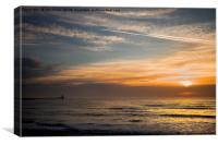 Quiet start to the day, Canvas Print