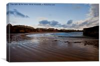 Cullercoats Bay., Canvas Print