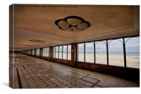 South Shields beach in perspective!, Canvas Print