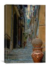 Side street in Sicily, Canvas Print