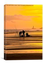 Fishermen at Sunrise (2), Canvas Print
