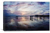 Shadows on the beach, Canvas Print