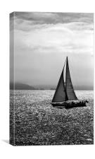 Yacht and the Isle of Wight, Canvas Print