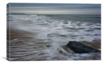 Ebb tide and a rock, Canvas Print