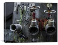 Fire engine rusting away, Canvas Print