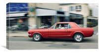 Mustang Classic Car, Canvas Print