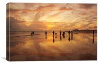 Evolution of a beach, Canvas Print