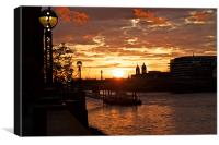 Sunset at Southbank, Canvas Print