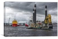 dredging Aberdeen Harbour, Canvas Print