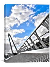 Diglis Bridge, Canvas Print