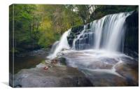 Sgwd Clun-Gwyn Waterfall, Canvas Print