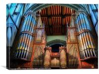 Rochester Cathedral Organ, Canvas Print