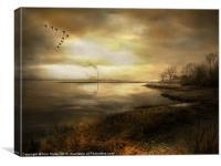 Dusk on the River, Canvas Print