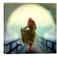 This way to the Moon!, Canvas Print