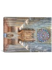 The College Chapel, Canvas Print