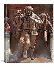 Bronze Statue to RAF, Canvas Print