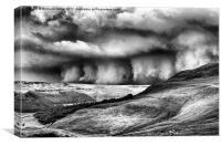 Wall of Cloud B&W, Canvas Print