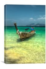 Thailand Longboat, Canvas Print