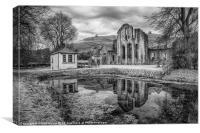 Abbey Reflections, Canvas Print