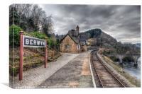 Berwyn Railway Station, Canvas Print