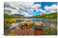 Boats at Nantlle Lake, Canvas Print