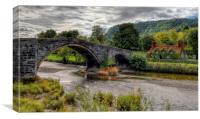 Pont Fawr Bridge 1636, Canvas Print