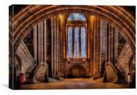 Cathedral Glass, Canvas Print